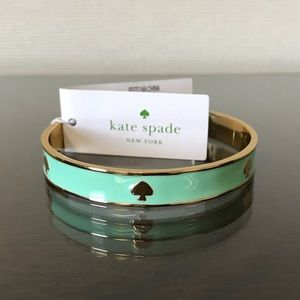 Kate Spade Ace of Spades Bangle in Mint Green